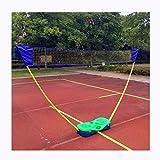 Attrezzature sportive 3M Portatile Semplice Telaio Netto di Badminton, Regolabile Leggero Pieghevole Mobile Colonna Netta, Linea di Corte da Badminton All'aperto