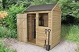 Holz 6x 4Rückseite Apex Gartenhaus Druck behandelt Garden Shed