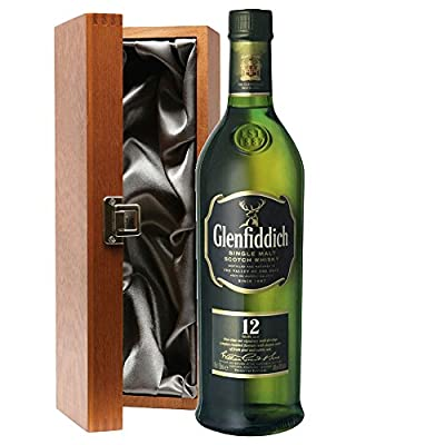 Glenfiddich Special Reserve 12 Year Old Malt Whisky 70cl Bottle In Luxury Silk Lined Gift Box with Hand Crafted Gifts2Drink Tag