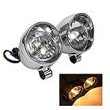 LED moto headlights- Bullet fari fendinebbia per Yamaha, Honda, Harley Davidson, Kawasaki, Ducati