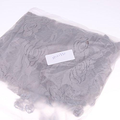 Gazechimp Neugeborene Baby Fotografie Requisiten Girl gehäkelte Baby kostüm fotoshooting mit Blumen Haarband - Grau / mintgrün, 140 * 35/40 * 150cm