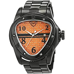 British Racing Club Men's Quartz Watch with Black Dial Analogue Display Quartz Stainless Steel BRC Dubai S or M