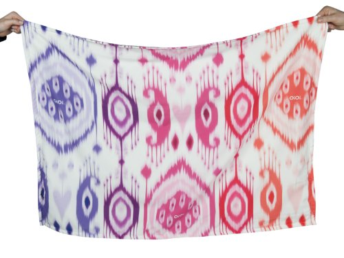 OiOi Mädchen Decke mit Ikatmuster, Digitaldruck, verschiedene Rosatöne