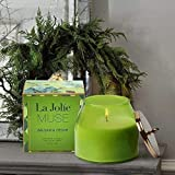 Large Candle Soy Scented Candle - 420g Cedar Balsam Forest Natural Wax, Glass Jar Gift