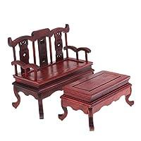 Toygogo 1/6 Vintage Sofa And Tea Table Furniture Set For 12