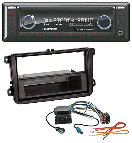 caraudio24 Blaupunkt London 470 DAB BT USB DAB MP3 CD Bluetooth Autoradio für Skoda Praktik/Superb/Yeti