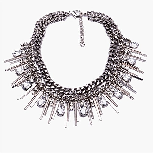 twopages-diamante-embellished-chain-statement-necklace-silver-jewelry-gifts-for-women-girls