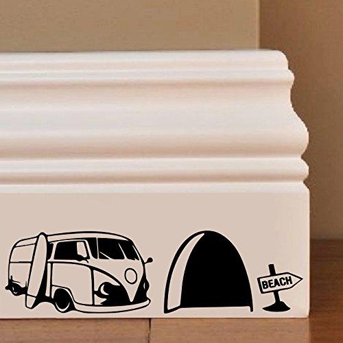 Maus Hole Surf Van Wandkunst Aufkleber Decal Mice Home Skirting Board Komisch by Inspired Walls® -