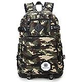 Wewod Moda Notebook Backpack,mochila para ordenador portatil 19inch, resistente al agua y anti-abrasiva de Ocio Mochila, ,camuflaje militar 37 cm * 44 cm * 13 cm (L * H * W) (Color-a)