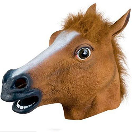 CRAZYDAY Horsehead Maske Cosplay Bilden lustiges lustiges Halloween, -
