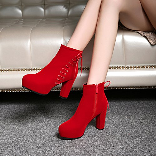 YE , Bottes classiques femme Rote