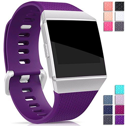 Mornex Kompatibel Fitbit Ionic TPU Armband, Klassische Armbänder, Unisex sportliches Ersatzband zur Fitness Lila