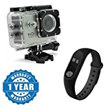 Drumstone 1080P 12MP Sports Waterproof Camera with Smart Fitness Band with Heart Rate Sensor Compatible with Xiaomi, Lenovo, Apple, Samsung, Sony, Oppo, Gionee, Vivo Smartphones (One Year Warranty)