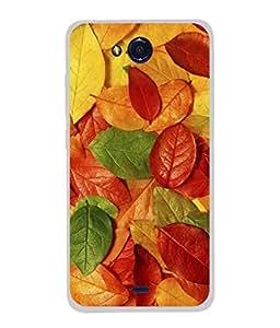 PrintVisa Designer Back Case Cover for Micromax Canvas Play Q355 (Flower Rose Leaf Beauty Garden Pinkish Green)