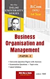 Business Organization and Management for B.Com 1st Year SOL Delhi University by Shiv Das and Sons