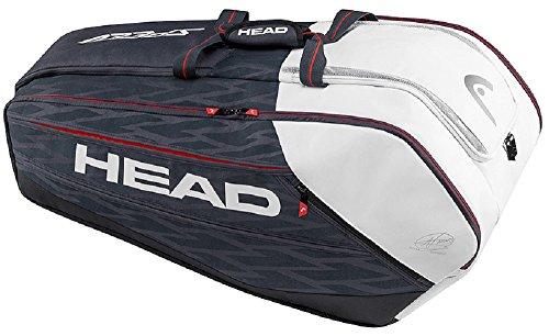 HEAD Djokovic 12R Monstercombi Sac à Raquette, Noir, 68x 40x 20cm