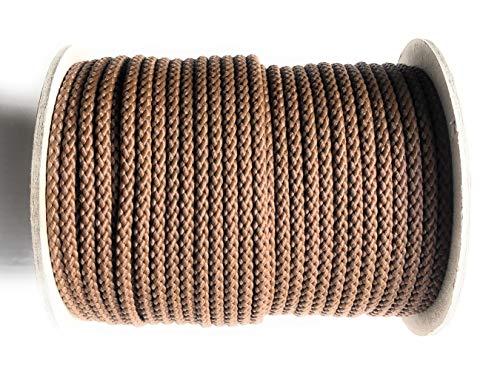 Viva Nature Polypropylen Seil\ PP Seil \ 50m Rolle 5 mm Braun Flechtleine Polypropylenseil Tau Festmacher Schnur Tauwerk