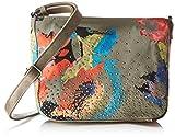 Tamaris Damen Deborah Crossbody Bag Umhängetasche, Grün (Khaki Comb), 8x20x24 cm