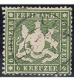 Goldhahn Württemberg Nr. 18 xa gestempelt geprüft Briefmarken für Sammler