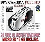 Wecker mit Kamera Uhr Spy SPY CAMERA 1920x 1080Mod. V9+ Micro SD 16GB Motion Detection CW79kaufen Web