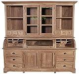 Sit Möbel 07935-01 Vitrinenschrank Buffet groß Ablage- und Stauraum Teak recycelt B/T/H 220 x 60 x 210 cm 173 kg