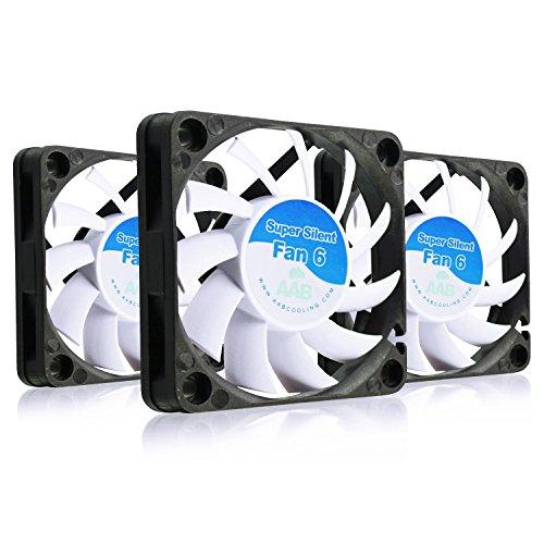 AAB Cooling Super Silent Fan 6 - Una Silenziosa e Molto Efficiente 60mm Ventola per Case PC | Raffreddamento per Stampante 3D | 12V Fan per PC Portatile | 6cm | Ventola Computer - Set di 3 Pezzi