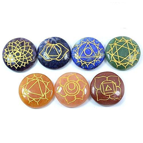 jewelswonder 7 Chakra Pebbles Stones
