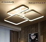 Plafonnier LED xw007–3couleur lumière avec télécommande/luminosité variable Kron A + Luminaire de salon lampe suspension plafonnier plafond Spot Plafonnier LED Lampe Suspension Lampe suspension LED