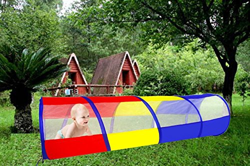 Tunel infantil plegable para niños 180cm (longitud) x 46cm (Diámetro), uso exterior e interior 2