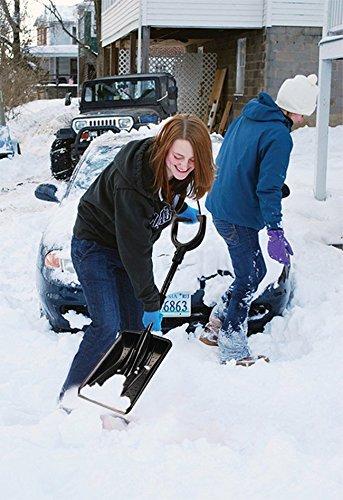 Bid Buy Direct® Grande Pelle à neige télescopique en aluminium amovible | | démonté | léger et compact | Ultra résistant | facile à ranger dans le coffre de voiture