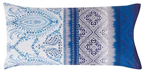 Bassetti V3 Housse de Coussin Bleu 40 x 80 cm