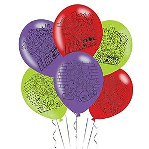 Amscan International-9901498mitad carcasa héroes de 4caras) globos de látex para