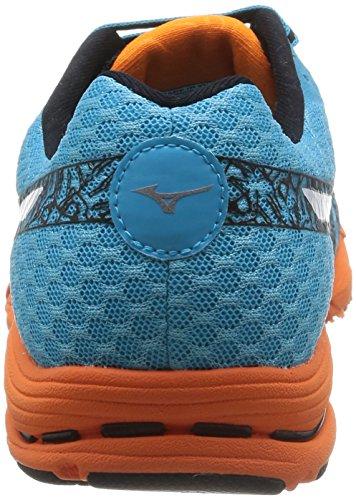 Mizuno Wave Sayonara 2  Scarpe sportive, Uomo, Blueatoll/Black/Vibrantorange Blueatoll/Black/Vibrantorange