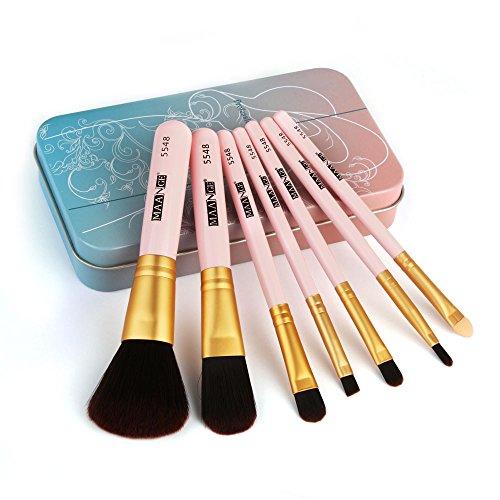 Daysing 4 pcs Make-up Pinsel-Sets Schminkpinsel Kosmetikpinsel Rougepinsel Augenbrauenpinsel Puderpinsel Lidschattenpinsel,Valentinstag, Freundin,Tanzparty, Mode