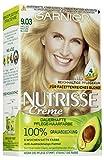Garnier Nutrisse Creme Nr. 9.03 Helles Naturblond, dauerhafte Pflege-Haarfarbe, mit nährenden Fruchtölen, 100% Grauabdeckung