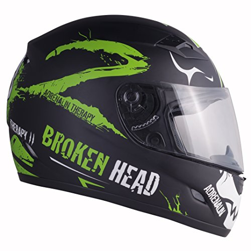 Broken Head Adrenalin Therapy II matt (M 57-58 cm) Motorradhelm - Helm grün - Integralhelm - 4