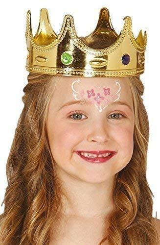 Weiser König Kostüm Mann - Jungen Mädchen Gelbgolden Krone König Queen Prinzessin Weihnachten Krippenspiel Weiser Mann Hut Kopfbedeckung Kostüm Kleid Outfit Zubehör