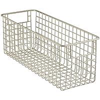 InterDesign Classico Cesta organizadora, cesta de alambre mediana fabricada en metal, organizador para cocina, baño o despensa, plateado mate