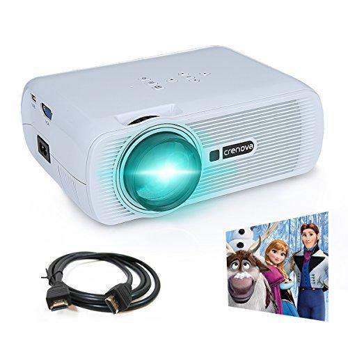 #Beamer, Crenova XPE460 LED Upgrade Beamer 1200 Lumen 800*480 Auflösung Augenschutz inklusive HDMI Kabel für das Heim- Gartenkino verknüpfbar mit TV Laptop PC Spielekonsole Media Player SD Karte unterstützt iPad iPhone Android Smartphone#