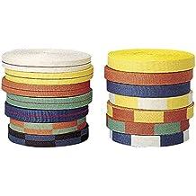 Fuji Mae - Cinturón en rollo. Karate. 50 m. Bicolor, color Azul-Marron