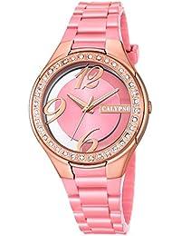 Calypso UK5679/8 - Reloj de pulsera para mujer (analógico, correa de PU, mecanismo de cuarzo, esfera en rosa y cobrizo)