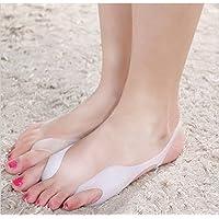 Preisvergleich für 2x Silikon Soft-Gel Fußschlinge, Fußbandage, Fersensporn Zehenspreizer, Zehenrichter für Hallux Valgus Therapie...