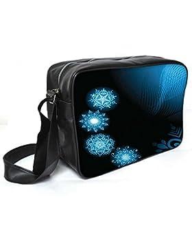 Snoogg Abstrakt rangolies Leder Unisex Messenger Bag für College Schule täglichen Gebrauch Tasche Material PU