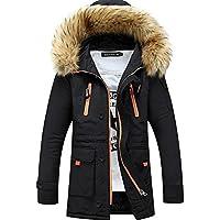 Lemumu Men's Casual/Täglich Einfache Winter Mantel, Feste Kapuze Langarm regelmäßige Polyester