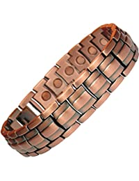 MPS® Mens SPECIAL OFFER Copper Rich Magnetic Therapy Bracelet with Powerful 3,000 gauss Magnets + Free Links Removal Tool