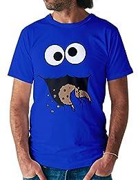 Shirtracer Damen & Herren T-Shirt Keks-Monster