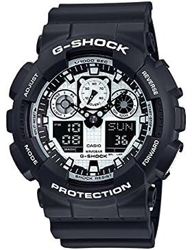 Casio G-Shock – Herren-Armbanduhr mit Analog/Digital-Display und Resin-Armband – GA-100BW-1AER