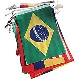SODIAL(R)9M Guirnaldas Copa Mundial De La FIFA Brasil 2014 Futbol Internacional Bandera 14cm x 21cm
