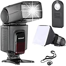 Neewer TT560 flash Speedlite * Deluxe Kit * para Canon Nikon Panasonic  Pentax Sony y Otros SLR  cámaras digitales con único-contacto zapata caliente, incluye: (1) Neewer TT560 + (1)  Mando Remoto + (1) Universal plegable Difusor de flash + (1) Holder para tapa del objetivo