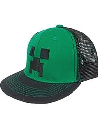 Minecraft Mesh, Premium Snap Back Hat Schwarz und Grün